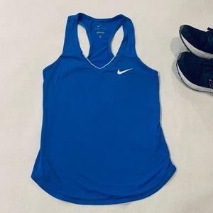 EUC Nike Dri-Fit Small Blue Racerback Tank